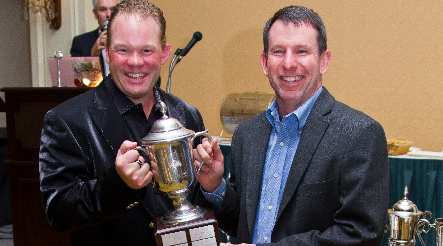Pub cup winners of the 2012 friendship cup pose with their trophies