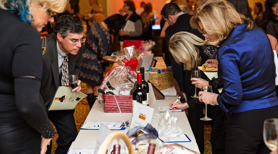 Final bids on silent auction items