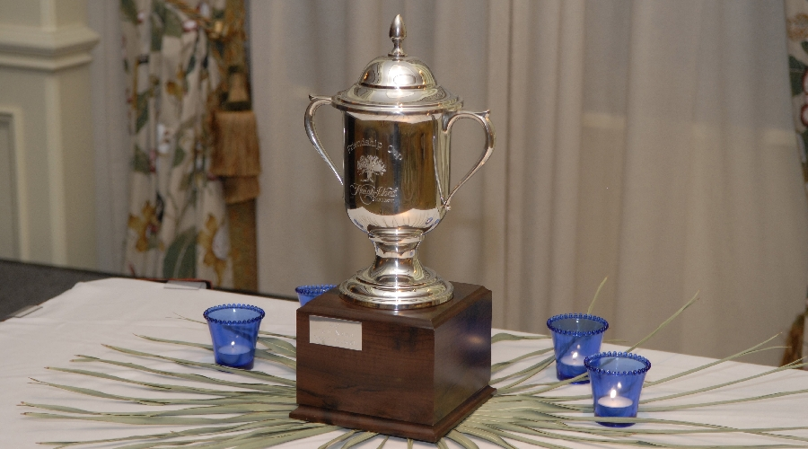 2008 Friendship cup trophy on display at awards dinner
