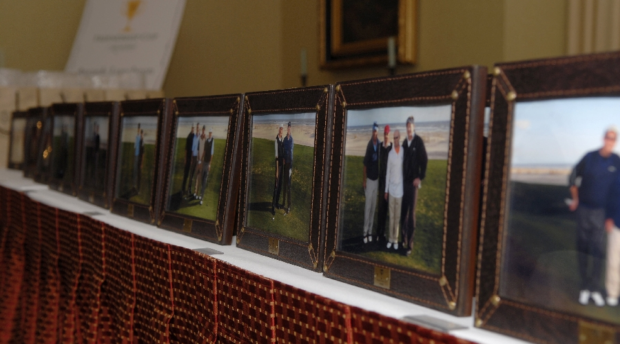 Course play photos on display at the 2008 friendship cup awards dinner