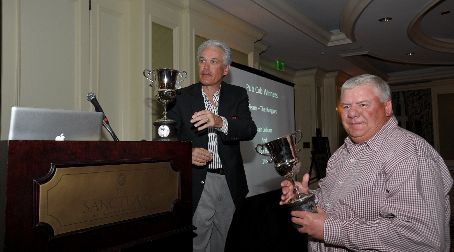 Trophy presentation at the 2011 friendship cup awards dinner