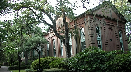 Campus building at the college of charleston, sc