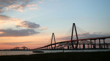 The Ravenel bridge in charleston south carolina
