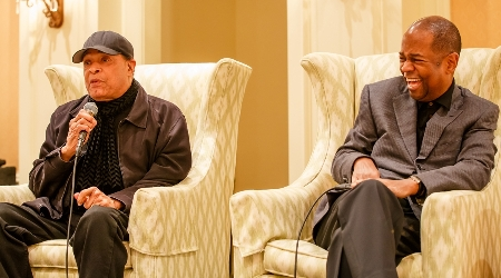 Al jarreau and earl klugh at saturday q and a weekend of jazz kiawah