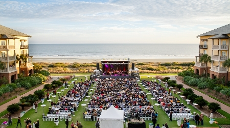 Grand lawn set up annual weekend of jazz kiawah