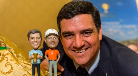 Past champions received bobble heads in their likeness at the 2014 friendship cup past champions dinner