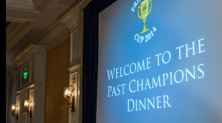 Welcome presentation to the friendship cup past champions dinner 2014