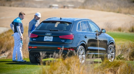 Golfers view Audi they could win with a hole in one