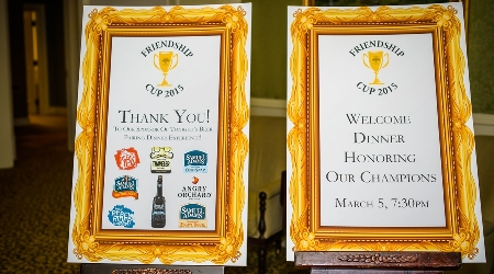 Thank you signs for Friendship cup sponsors