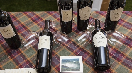 Cain vineyard table display