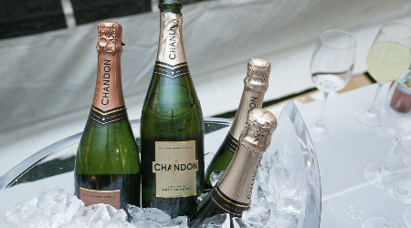 Chandon champagne served at the annual gourmet and grapes weekend