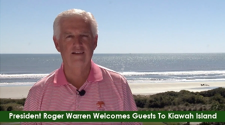 Roger Warren Welcomes Guests to Kiawah Island Golf Resort