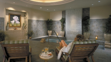 Treatment room at the spa at the sanctuary at kiawah island