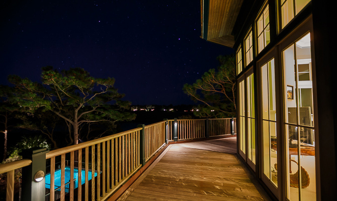 Master Bedroom Porch at Night