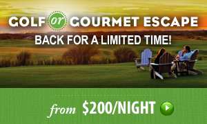 golf or gourmet escape packages are back