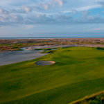 aerial view of the ocean course