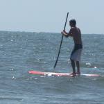 stand-up paddleboarding ocean