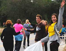 Awesome volunteers at the Kiawah Island Marathon
