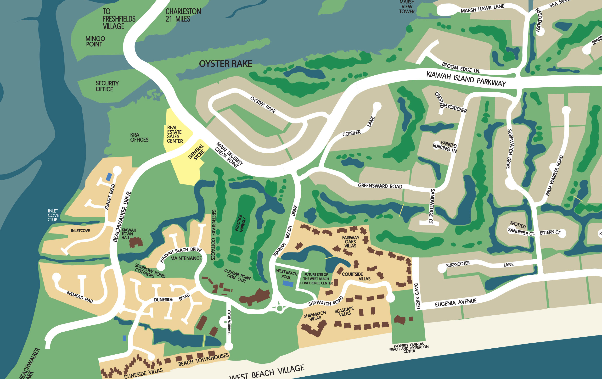 Kiawah Island Interactive Map | Kiawah Island Golf Resort