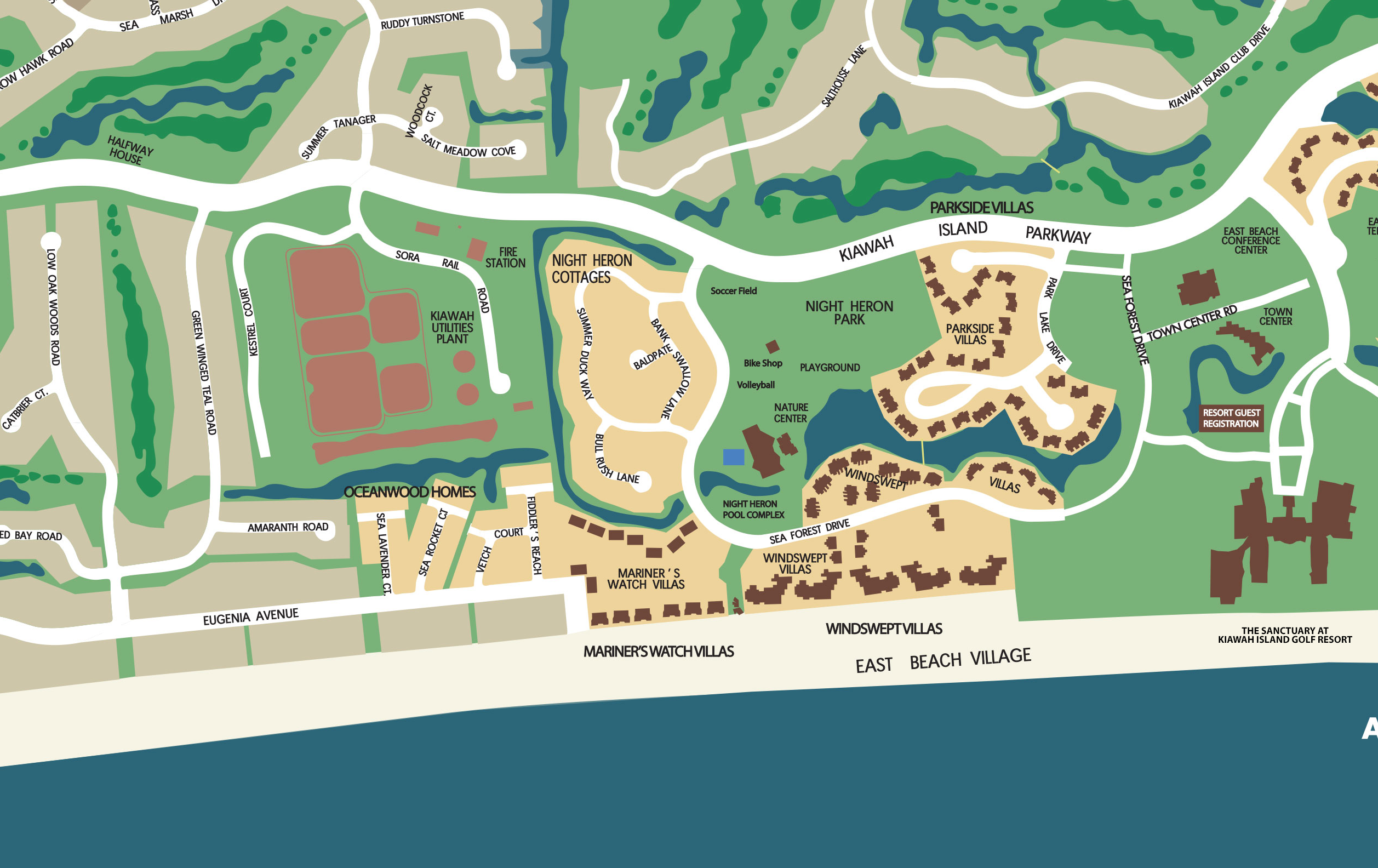 Map Of Kiawah Island Neighborhoods