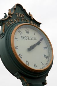 Second Rolex Clock at 1st tee of The Ocean Course