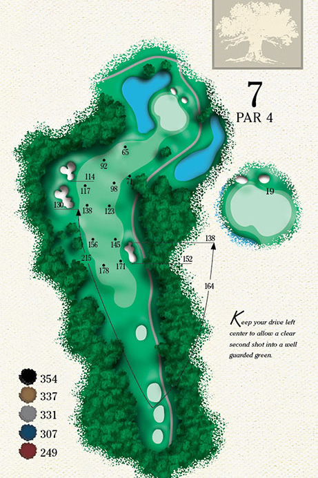 Map of Hole 7 of Cougar Point Golf Course