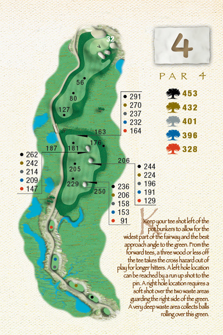 Map of Hole 4 of The Ocean Course