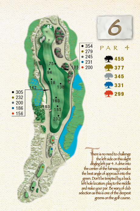 Map of Hole 6 of The Ocean Course