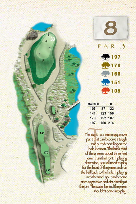 Map of Hole 8 of The Ocean Course