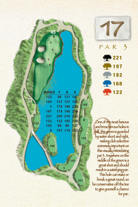 Map of Hole 17 of The Ocean Course