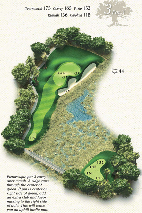 Map of Hole 3 of Osprey Point Golf Course