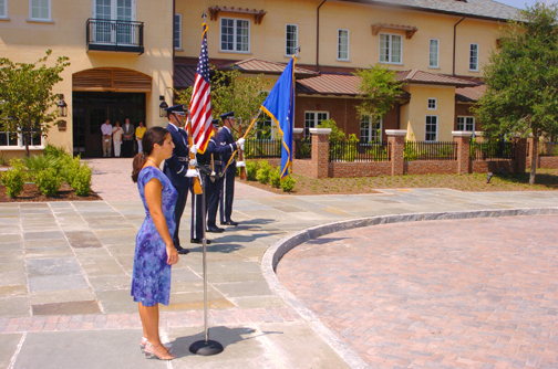 Air Force Honor Guard and Emily McClure
