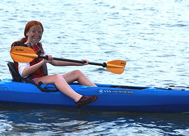 teen kayaking adventure