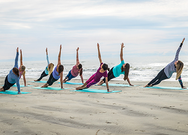 Easter Sunrise Yoga On The Beach