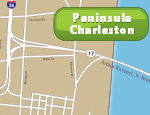 Charleston Peninsula Map
